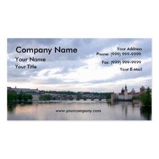 Prague Landscape Double-Sided Standard Business Cards (Pack Of 100)