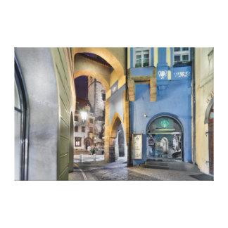 Prague Melantrichova Passage Night Canvas