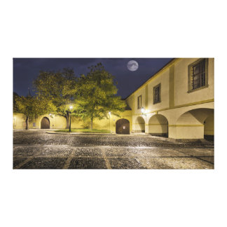 Prague Monastery at Night Canvas Print