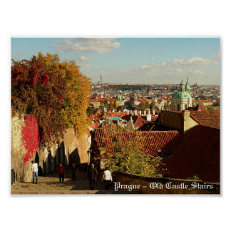 Prague - Old Castle Stairs Print