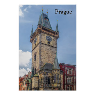 Prague Old Town Hall Czech Republic Poster