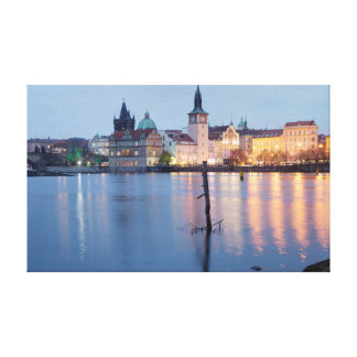 Prague Old Town River view souvenir photo Canvas Print