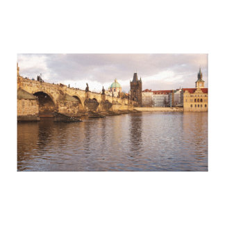 Prague Old Town souvenir photo Canvas Print
