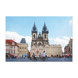 Prague. Old Town Square and Tyn Church. Canvas Print