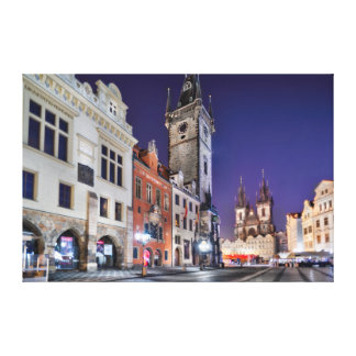 Prague Old Town Square at Night Canvas Canvas Print