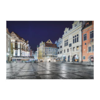 Prague Old Town Square  Night Canvas