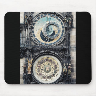 Prague Orloj Mouse Mat