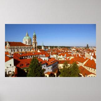 Prague panorama poster