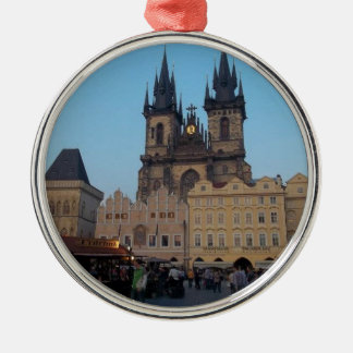 Prague Praha Czech Republic Old Town Square Christmas Ornament