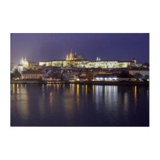 Prague River and castle view souvenir photo Acrylic Print
