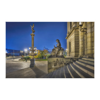 Prague Rudolfinum at Night Canvas Print