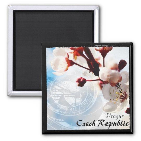 Prague, Spring, Best of Czech Republic (Magnet) Square Magnet