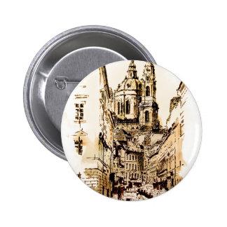 Prague - St Nicholas Church 6 Cm Round Badge