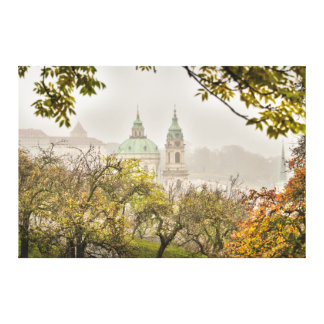 Prague St. Nicholas Church in the Morning Canvas Print