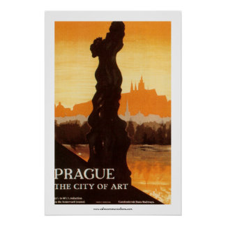 Prague - The City of Art Poster