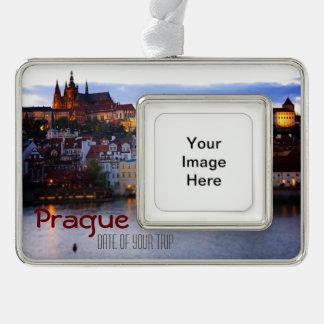 Prague Travel Christmas Ornament - Customizible