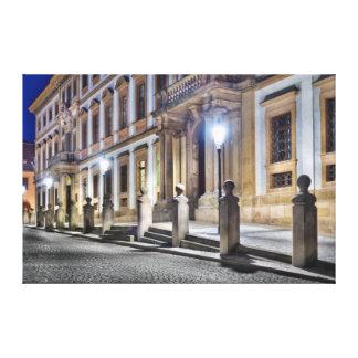 Prague Tuscan Palace Night Street Canvas
