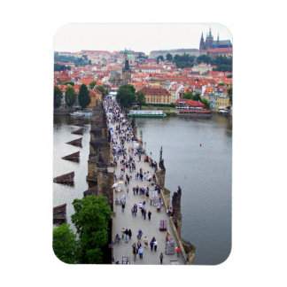 Prague View Rectangular Photo Magnet