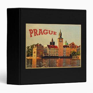 Prague Vintage Travel 3 Ring Binder
