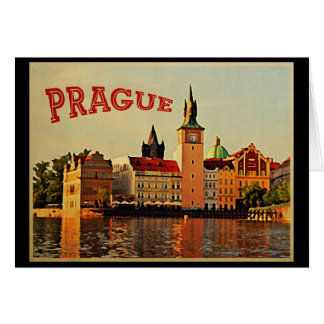 Prague Vintage Travel Card