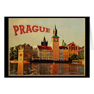 Prague Vintage Travel Greeting Card