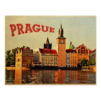 Prague Vintage Travel Postcard