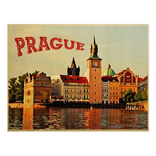 Prague Vintage Travel Post Cards