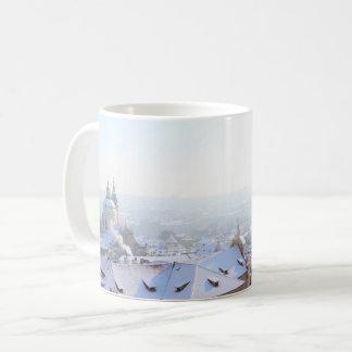 Prague Winter Rooftops Coffee Mug