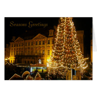 prague xmas tree greeting card