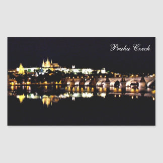 Praha castle rectangular sticker