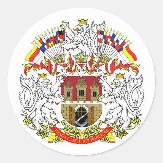 Praha, Czech Classic Round Sticker