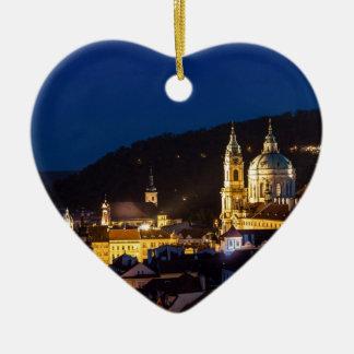 Praha - Prague Ceramic Heart Decoration