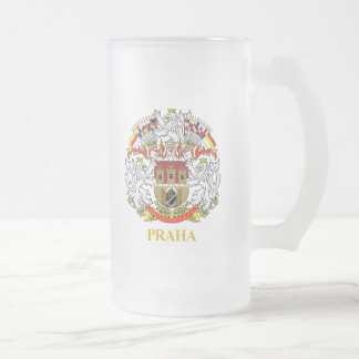 Praha (Prague) Frosted Glass Beer Mug