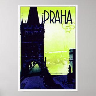 Praha (Prague) Poster