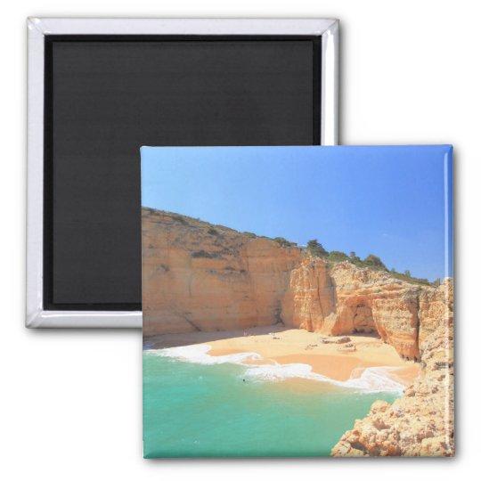 Praia do Carvalho Square Magnet