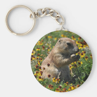 Praire Dog Basic Round Button Key Ring