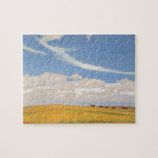 Prairie After Storm by Maynard Dixon, Vintage Art
