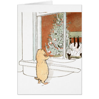 Prairie Dog and Christmas Tree Card