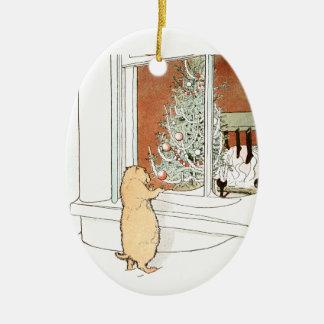 Prairie Dog and Christmas Tree Christmas Ornament