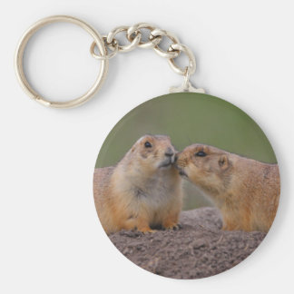 prairie dog basic round button key ring