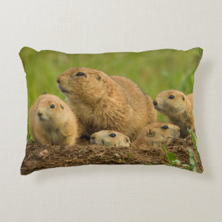 Prairie Dog Family on Den Decorative Cushion