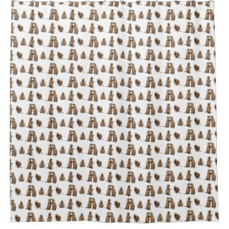 Prairie Dog Frenzy Shower Curtain (choose colour)
