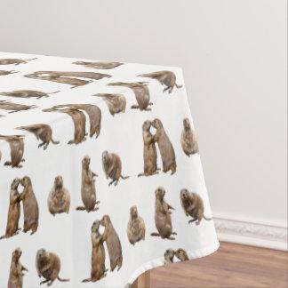 Prairie Dog Frenzy Tablecloth (choose colour)