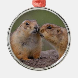 prairie dog kiss christmas ornament