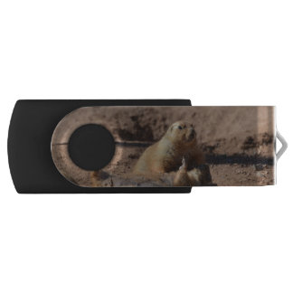 Prairie Dog Playing Dead Swivel USB 2.0 Flash Drive