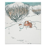 Prairie Dog Pops Out of the Snow Posters