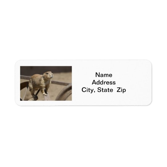 Prairie Dog Return Address Label