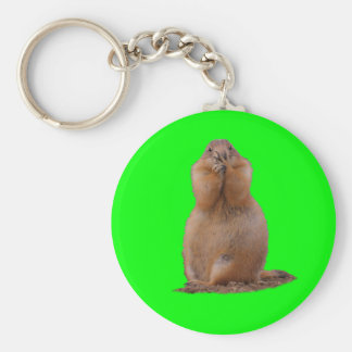 Prairie Dog with Funny Expression Key Chain