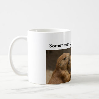 Prairie Dogs Hugging Coffee Mug