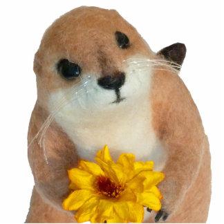 prairie dog's stuffed toy photo sculpture key ring